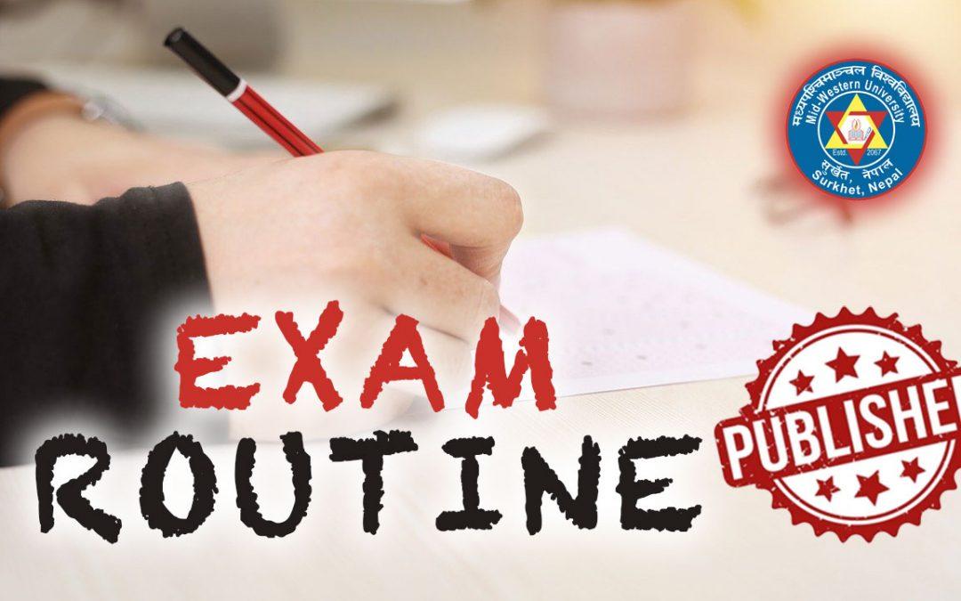 MU Examinations Management Office Published Exam Routine