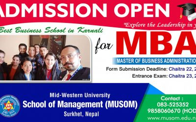 Admission Open for MBA Program at MUSOM