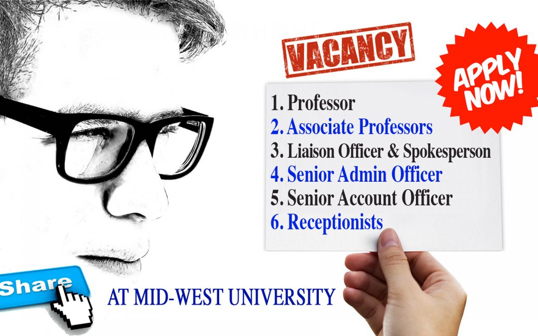 Vacancy Announcement for Professors and Admin Officers at MU