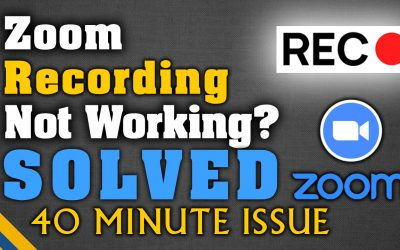 Zoom Local Recording Not Working [SOLVED] । 40 Minute Meeting Cut-Off Issue [MU CASE]